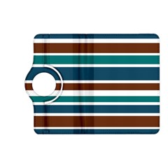 Teal Brown Stripes Kindle Fire Hd (2013) Flip 360 Case by BrightVibesDesign