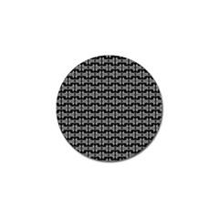 Black White Tiki Pattern Golf Ball Marker (10 pack) by BrightVibesDesign