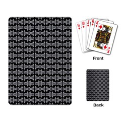 Black White Tiki Pattern Playing Card by BrightVibesDesign