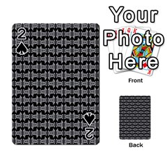 Black White Tiki Pattern Playing Cards 54 Designs  by BrightVibesDesign
