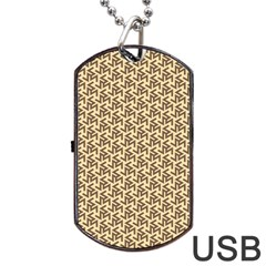 Braided Pattern Dog Tag Usb Flash (two Sides)  by TastefulDesigns