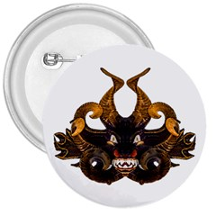 Demon Tribal Mask 3  Buttons by dflcprints