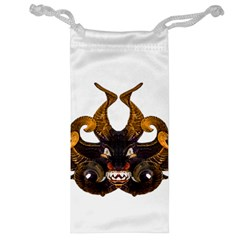 Demon Tribal Mask Jewelry Bags by dflcprints