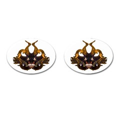 Demon Tribal Mask Cufflinks (oval) by dflcprints