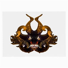 Demon Tribal Mask Large Glasses Cloth (2 Side) by dflcprints