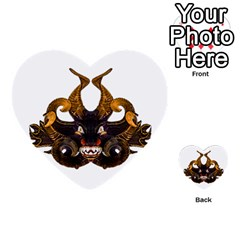 Demon Tribal Mask Multi Purpose Cards (heart)  by dflcprints