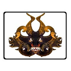 Demon Tribal Mask Fleece Blanket (small) by dflcprints