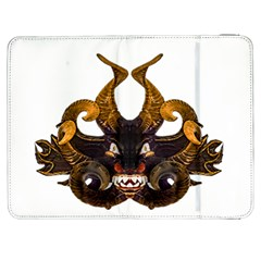 Demon Tribal Mask Samsung Galaxy Tab 7  P1000 Flip Case by dflcprints