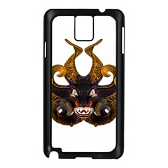 Demon Tribal Mask Samsung Galaxy Note 3 N9005 Case (black) by dflcprints