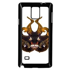 Demon Tribal Mask Samsung Galaxy Note 4 Case (Black) by dflcprints