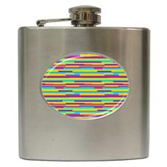 Colorful Stripes Background Hip Flask (6 Oz) by TastefulDesigns
