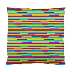 Colorful Stripes Background Standard Cushion Case (two Sides) by TastefulDesigns