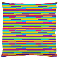 Colorful Stripes Background Large Cushion Case (two Sides) by TastefulDesigns
