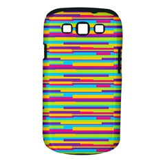 Colorful Stripes Background Samsung Galaxy S Iii Classic Hardshell Case (pc+silicone) by TastefulDesigns