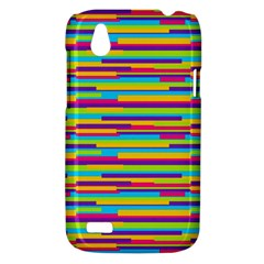 Colorful Stripes Background HTC Desire V (T328W) Hardshell Case