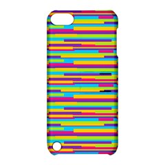 Colorful Stripes Background Apple Ipod Touch 5 Hardshell Case With Stand