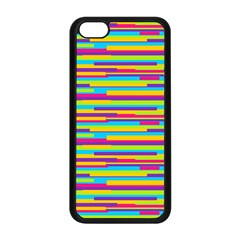 Colorful Stripes Background Apple Iphone 5c Seamless Case (black) by TastefulDesigns