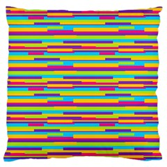 Colorful Stripes Background Standard Flano Cushion Case (two Sides) by TastefulDesigns