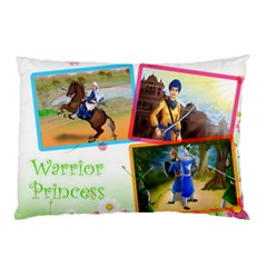 Warrior Princess Pillow Case by harjasnoorcreations