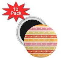 Watercolor Stripes Background With Stars 1 75  Magnets (10 Pack)  by TastefulDesigns