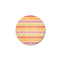 Watercolor Stripes Background With Stars Golf Ball Marker (4 Pack) by TastefulDesigns