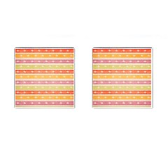 Watercolor Stripes Background With Stars Cufflinks (square) by TastefulDesigns