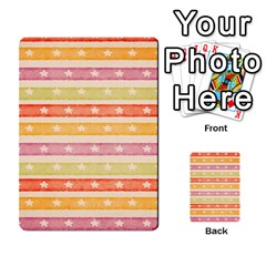 Watercolor Stripes Background With Stars Multi Purpose Cards (rectangle)  by TastefulDesigns
