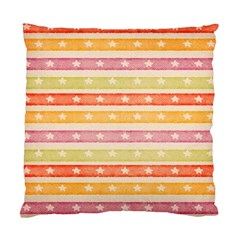 Watercolor Stripes Background With Stars Standard Cushion Case (two Sides) by TastefulDesigns