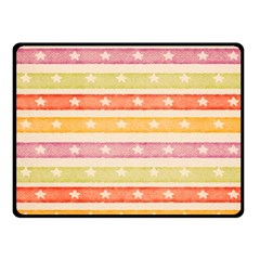 Watercolor Stripes Background With Stars Fleece Blanket (small) by TastefulDesigns
