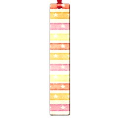 Watercolor Stripes Background With Stars Large Book Marks by TastefulDesigns