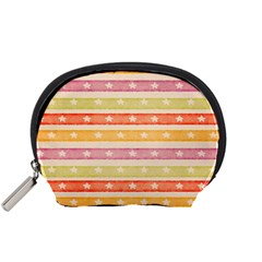 Watercolor Stripes Background With Stars Accessory Pouches (small)  by TastefulDesigns