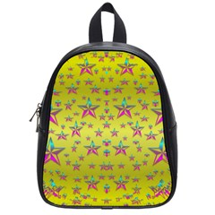 Flower Power Stars School Bags (small)  by pepitasart
