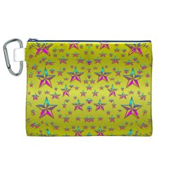 Flower Power Stars Canvas Cosmetic Bag (xl)  by pepitasart