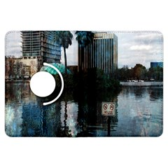 Downtown Orlando Florida Lake Eola  Kindle Fire HDX Flip 360 Case by CrypticFragmentsColors