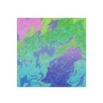 Green Blue Pink Color Splash Satin Bandana Scarf