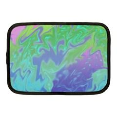 Green Blue Pink Color Splash Netbook Case (medium)  by BrightVibesDesign