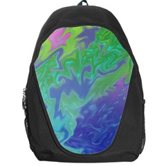 Green Blue Pink Color Splash Backpack Bag by BrightVibesDesign