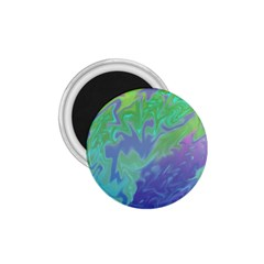 Green Blue Pink Color Splash 1 75  Magnets by BrightVibesDesign