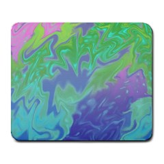 Green Blue Pink Color Splash Large Mousepads by BrightVibesDesign