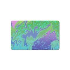 Green Blue Pink Color Splash Magnet (name Card) by BrightVibesDesign