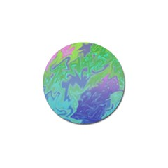 Green Blue Pink Color Splash Golf Ball Marker by BrightVibesDesign