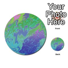 Green Blue Pink Color Splash Multi Purpose Cards (round)  by BrightVibesDesign