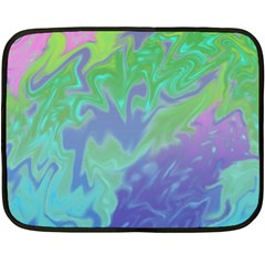 Green Blue Pink Color Splash Double Sided Fleece Blanket (mini)  by BrightVibesDesign