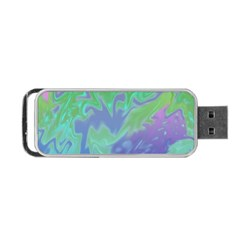 Green Blue Pink Color Splash Portable Usb Flash (two Sides) by BrightVibesDesign