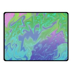 Green Blue Pink Color Splash Double Sided Fleece Blanket (small)  by BrightVibesDesign