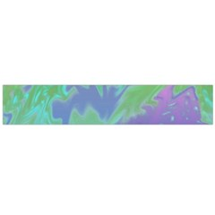 Green Blue Pink Color Splash Flano Scarf (large)  by BrightVibesDesign