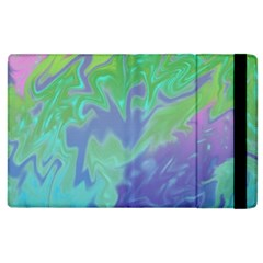 Green Blue Pink Color Splash Apple Ipad 3/4 Flip Case by BrightVibesDesign