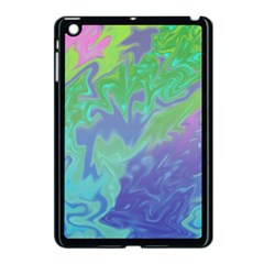 Green Blue Pink Color Splash Apple Ipad Mini Case (black) by BrightVibesDesign