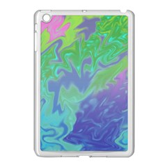 Green Blue Pink Color Splash Apple Ipad Mini Case (white) by BrightVibesDesign
