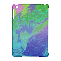 Green Blue Pink Color Splash Apple Ipad Mini Hardshell Case (compatible With Smart Cover) by BrightVibesDesign